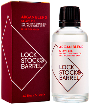 Масло аргановое для бритья и ухода за бородой / Lock Stock Argan Blend Shave Oil, 50 мл